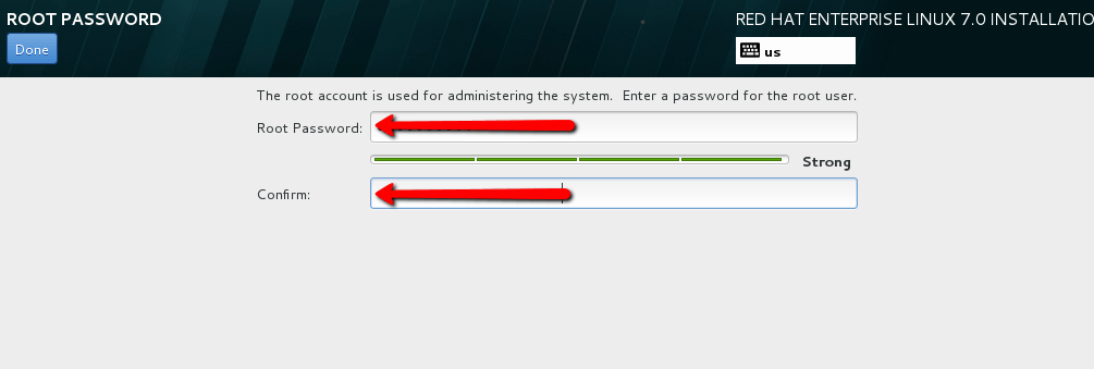 Installation of Red Hat Enterprise Linux 7 (RHEL 7)