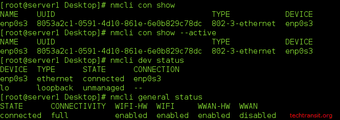 Network Configuration with nmcli on CentOS/ RHEL 7